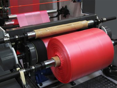 Folie Polietilena ESD in masina de productie