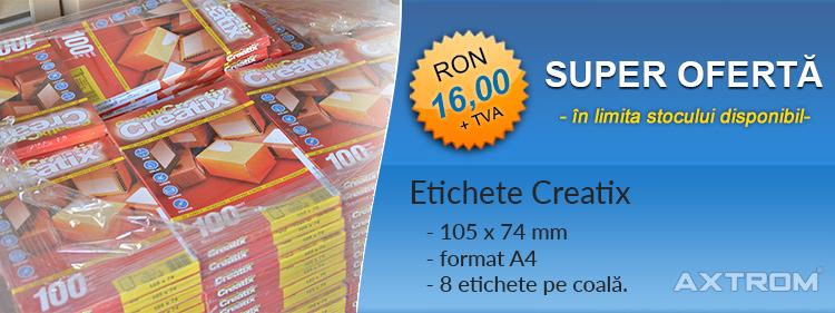 Oferta Etichete creatix 105x74mm Axtrom